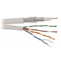 Coax combikabel RG6 Geschikt voor CAI-TV en Satelliet + UTP CAT5e in verschillende lengtes (non-cpr)