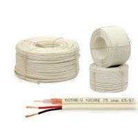 Coax combikabel RG59 + 2x voeding ader 2x 0.5 200m wit (non-cpr)