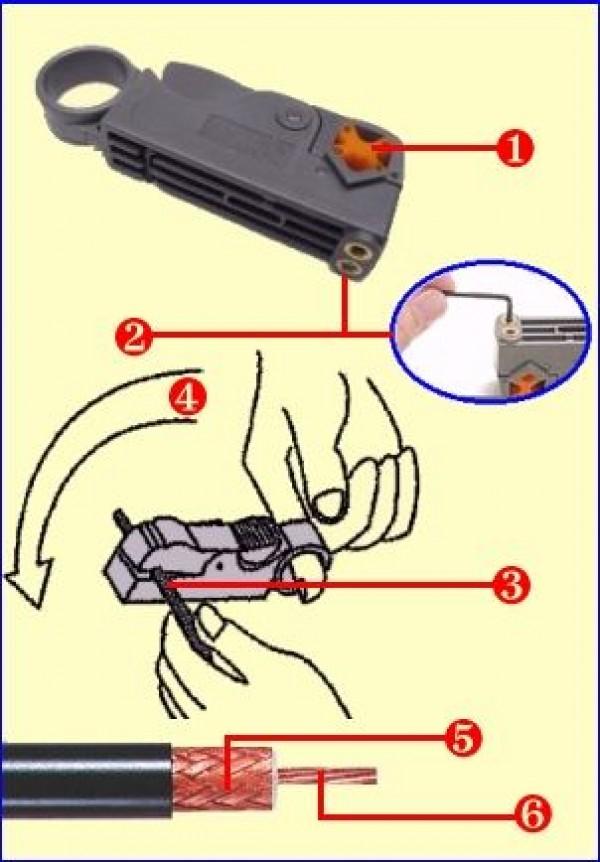 Coax striptang gebruiksaanwijzing