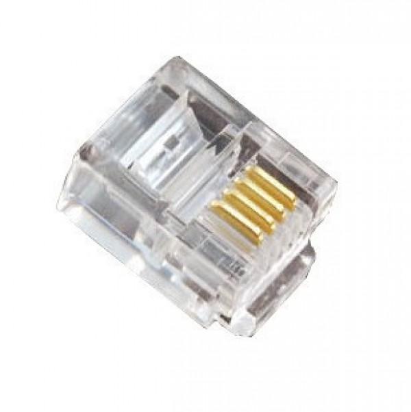 Modulaire    6    pins telefoon connector  6p4c  RJ11
